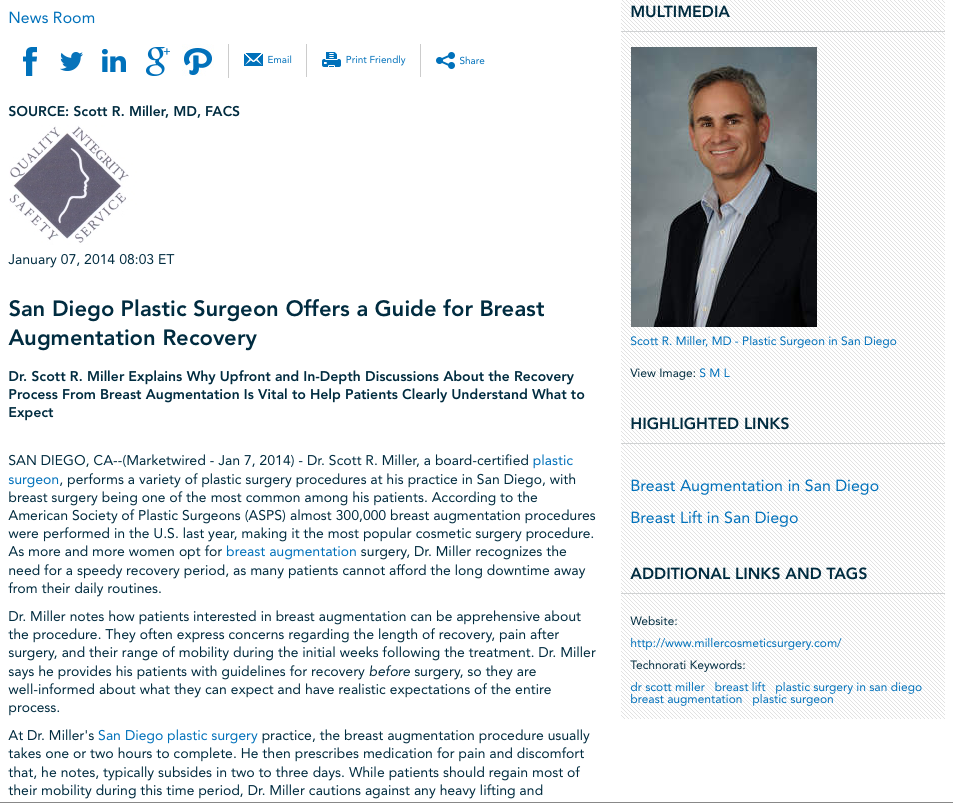 dr scott miller, breast lift, plastic surgery in san diego, breast augmentation, plastic surgeon