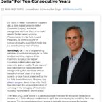 Plastic Surgeon Scott Miller, MD Wins Best of La Jolla Award For Ten Years